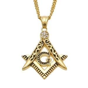Freemason Gold Necklace Masonic Chain Diamond